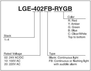 Đèn tháp patlite model LGE